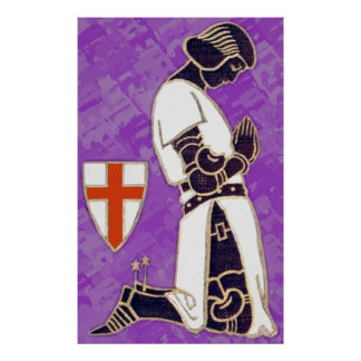 The Knight In Prayer Poster