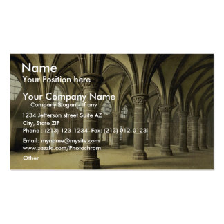 The knights' hall, Mont St. Michel, France vintage Business Card Template