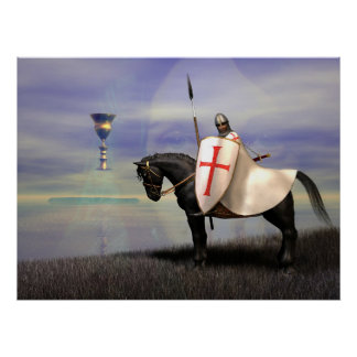 The Knights Templar and the Grail Poster