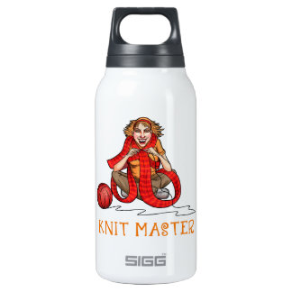 The Knit Master Insulated Water Bottle