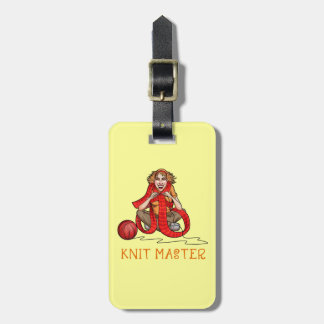 The Knit Master Luggage Tag