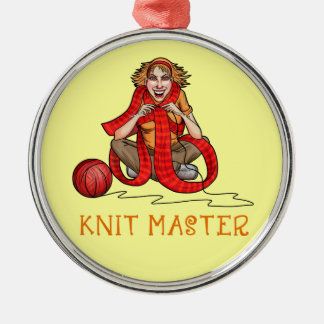 The Knit Master Metal Ornament