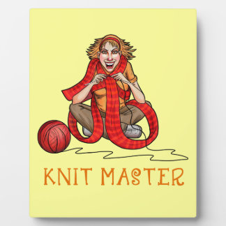 The Knit Master Display Plaque