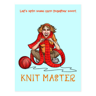 The Knit Master Postcard