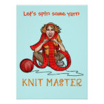 The Knit Master Poster