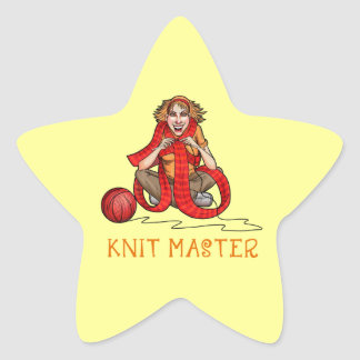 The Knit Master Star Sticker
