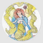 The Knitter Classic Round Sticker