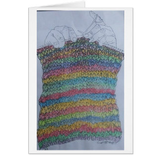 the knitter greeting card