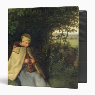 The Knitter or, The Seated Shepherdess, 1858-60 3 Ring Binder