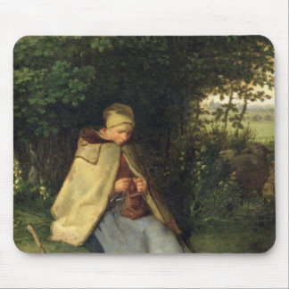 The Knitter or, The Seated Shepherdess, 1858-60 Mouse Pad