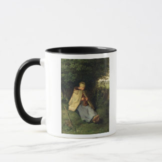 The Knitter or, The Seated Shepherdess, 1858-60 Mug
