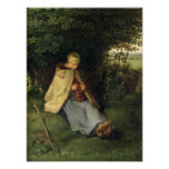The Knitter or, The Seated Shepherdess, 1858-60 Poster