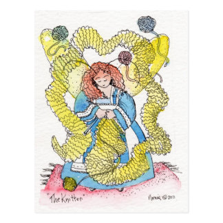 The Knitter Postcard