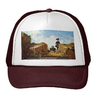 The Knitting Outposts By Spitzweg Carl Trucker Hat