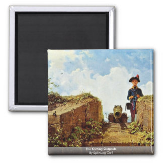 The Knitting Outposts By Spitzweg Carl Refrigerator Magnets