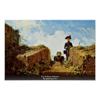 The Knitting Outposts By Spitzweg Carl Print