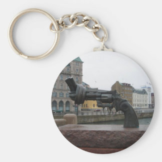 The Knotted Gun Basic Round Button Keychain