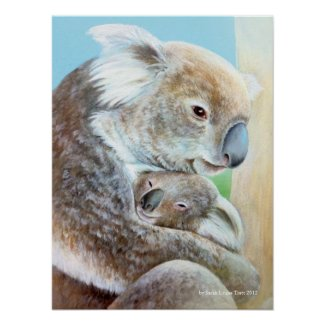 """The Koala cuddle"" portrait fine art print"