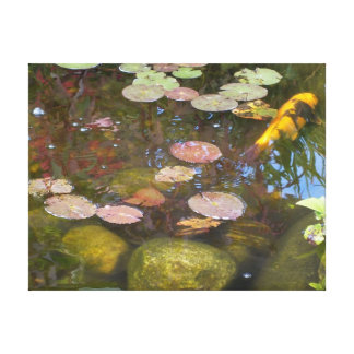 The Koi In The Lily Pad Pond Canvas Print