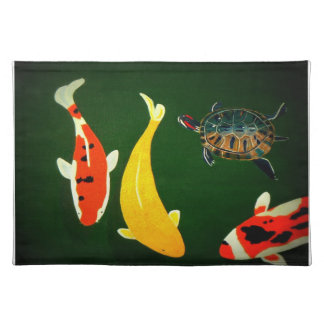 The Koi Pond Placemat Cloth Placemat