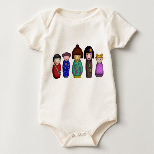 The Kokeshi Girls, babies Baby Bodysuit