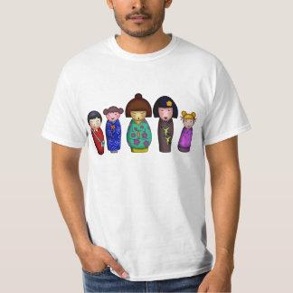 The Kokeshi Girls, light shirt