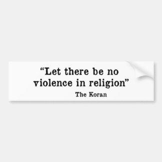 The Koran Car Bumper Sticker