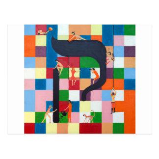 The Kouf Letter - Hebrew alphbet Postcard