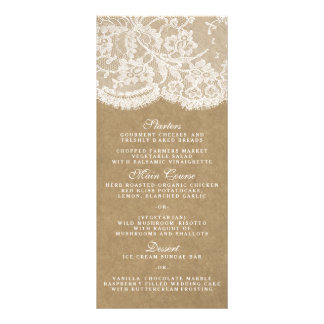The Kraft & Lace Collection Menu Templates Personalized Rack Card