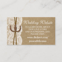 The Kraft, Lace & Horseshoe Collection Website Enclosure Card