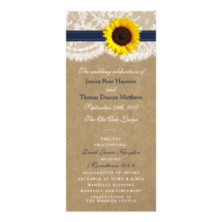The Kraft, Lace & Sunflower Collection - Navy Rack Card