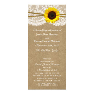 The Kraft, Lace & Sunflower Collection Programs