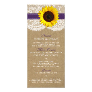 The Kraft, Lace & Sunflower Collection - Purple Rack Card