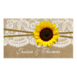 The Kraft, Lace & Sunflower Collection Website Double-Sided Standard Business Cards (Pack Of 100)