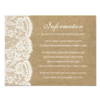 The Kraft & Lace Wedding Collection Detail Cards