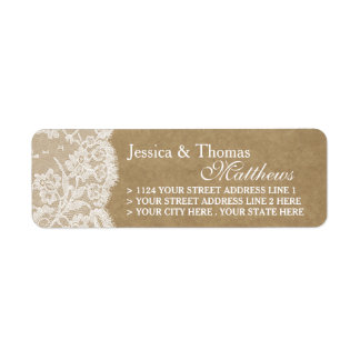 The Kraft & Lace Wedding Collection Labels