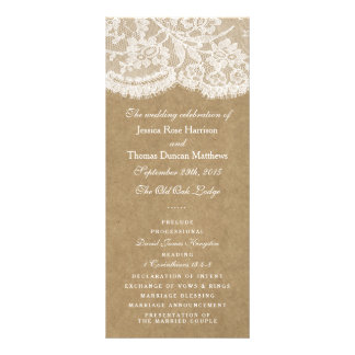 The Kraft & Lace Wedding Collection Programs