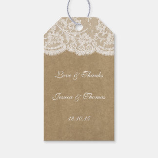 The Kraft & Lace Wedding Collection Tags Pack Of Gift Tags