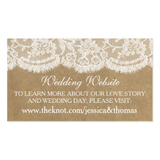 The Kraft & Lace Wedding Collection Website Cards Business Card