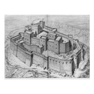 The Krak des Chevaliers, reconstruction Postcard