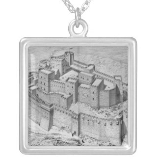 The Krak des Chevaliers, reconstruction Silver Plated Necklace