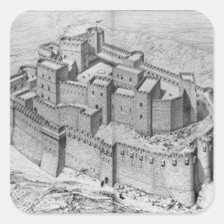 The Krak des Chevaliers, reconstruction Square Sticker