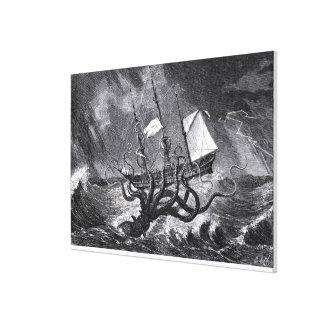 The Kraken Stretched Canvas Prints