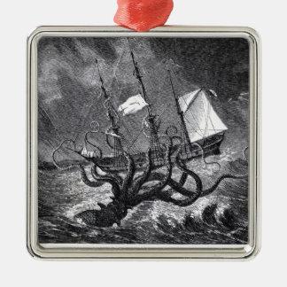 The Kraken Metal Ornament