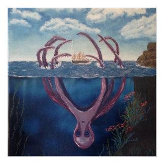 The Kraken Perfect Poster