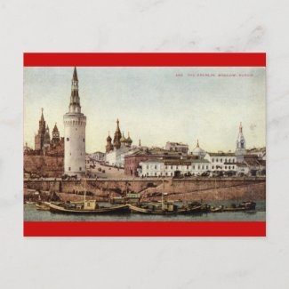 The Kremlin, Moscow, Russia 1915 Vintage postcard