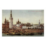 The Kremlin, Moscow, Russia 1915 Vintage Poster