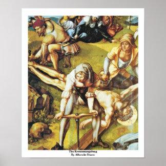 The Kreuzannagelung By Albrecht Dürer Poster