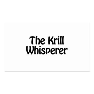 the krill whisperer Double-Sided standard business cards (Pack of 100)