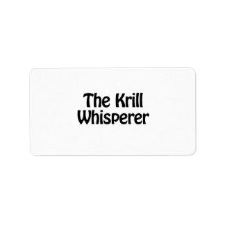 the krill whisperer address label